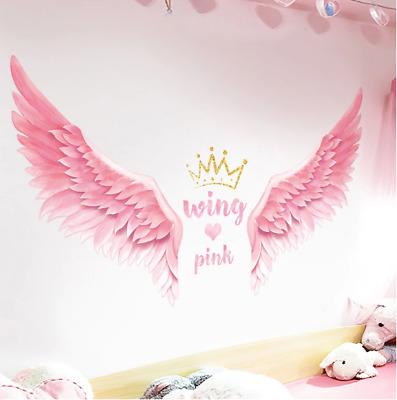£11.70 • Buy Pink Angel Wings Wall Stickers Lovely Angel Wings Wall Decals Home Decor