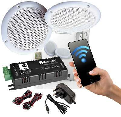 £49.99 • Buy Bathroom Kitchen Ceiling Speakers And Wireless Bluetooth Amplifier System B428