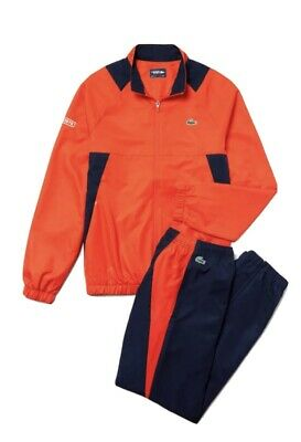 £114.99 • Buy Lacoste Sports Tracksuit Mens Size-Xs Orange And Navy  FR 2 RRP:£190