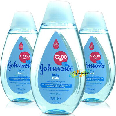 £9.69 • Buy 3x Johnsons Baby Bath 300ml PH Balanced Gentle Daily Care For Delicate Skin