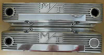 $299.99 • Buy M/T 3276000 Valve Cover, SB Chevy, Fresh Show Polished, Finned, Pair