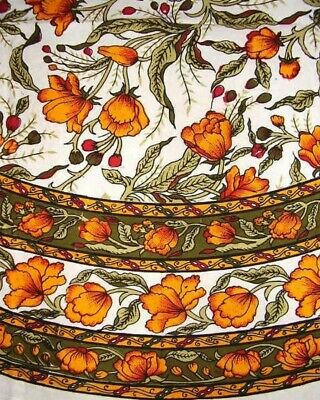 £24.77 • Buy French Floral Round Cotton Tablecloth 70  Saffron
