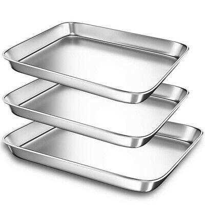AU11.39 • Buy Baking Sheets  Chef Cookie Sheets Stainless Steel Baking Pans Toaster Oven Tray