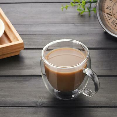 £6.99 • Buy 150ML Double Wall Glass Coffee Mugs Tea Cups Cappuccino Latte Hot Drinks Glasses