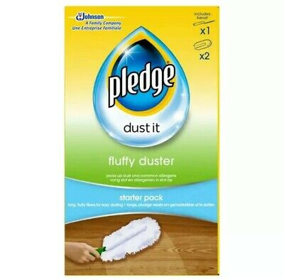 £8.99 • Buy Pledge Fluffy Duster - Starter Kit Dusting Cleaning Cloth Pack - Mrs Hinch!