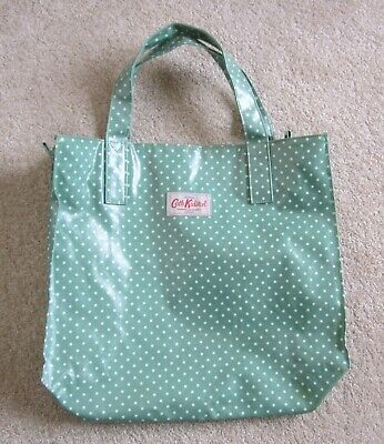 £8.99 • Buy Cath Kidston Green Spot Oilcloth Bag With Zip Fastening