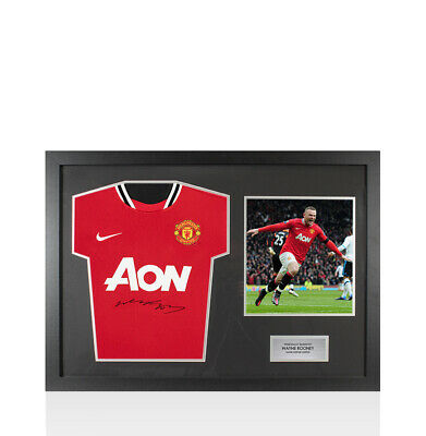 £214.99 • Buy Framed Wayne Rooney Signed Manchester United Shirt, 2011/2012 - Panoramic Compac