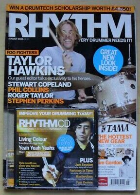 £8 • Buy Foo Fighters Rhythm #114 Magazine Aug 2005 Taylor Hawkins Cover With Feature Ins