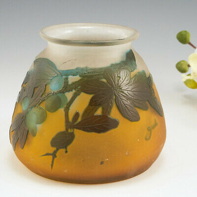 £830 • Buy A Galle Cameo Glass Vase With Sloes C1925