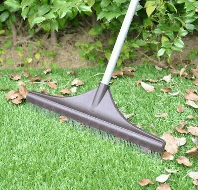 £19.99 • Buy Artificial Grass Rake Brush For Astro Turf Fake Grass With Telescopic Handle