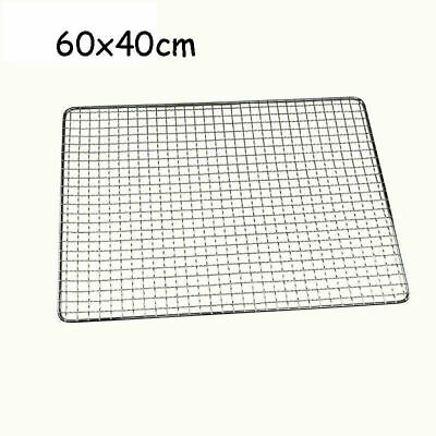 £7.99 • Buy BBQ Stainless Steel Grill Grate Grid Wire Mesh Rack Cook Replacement Net 60x40cm
