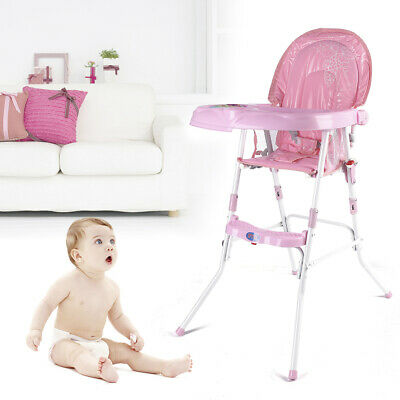 £28 • Buy Baby Feeding High Chair Folding Children Infan Seat Toddler Table Highchair Pink