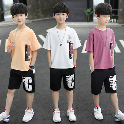 £13.99 • Buy 2Pcs Suit Children Baby Cotton Short Sleeve Summer Outfits Boys Clothing Sets