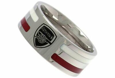 £19.99 • Buy Stainless Steel Arsenal Striped Ring - Size U