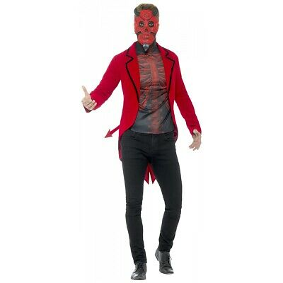 $26.29 • Buy Day Of The Dead Devil Costume, Red Costume Halloween Fancy Dress