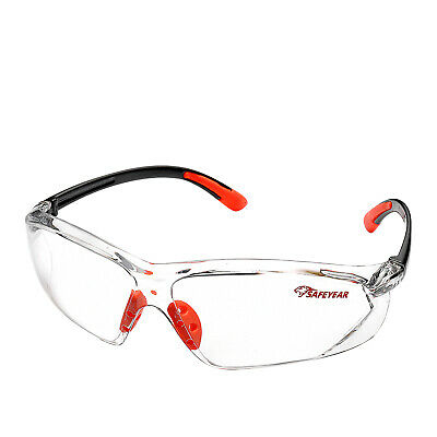 £14.98 • Buy SAFEYEAR Safety Glasses Work Goggles Adjustable Eyewear UV Protection Clear Lens