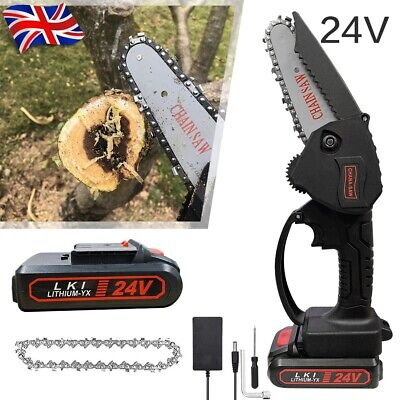 £35.99 • Buy Rechargeable Mini Handheld Cordless Electric Chainsaw Wood Cutter Cutting Tool.