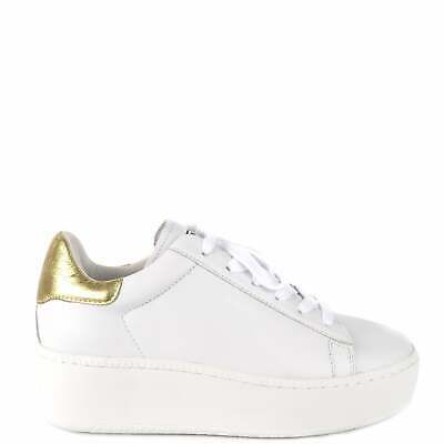 £85 • Buy Ash CULT Trainers White Leather & Gold