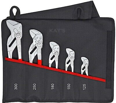 £245 • Buy Knipex 00 19 55 S4 Pliers Wrench 5 Piece Set Lock Button Water Pump Spanner Grip