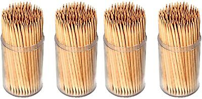 £3.99 • Buy 600x Party Wooden Cocktail Sticks Toothpicks Tooth Picks Fruit Cheese Parties