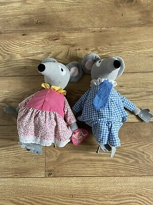 £20 • Buy Bagpuss Lizzie & Charlie Mouse Organ Mice 12  Soft Plush Toy Golden Bear 2002