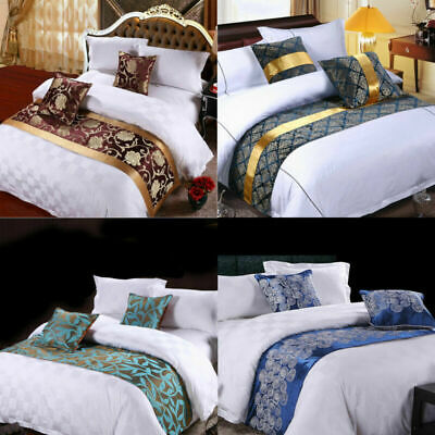 AU14.39 • Buy Hotel Bed Runner Scarf Dining Table Runner Wedding Party Bedroom Bedding Decor