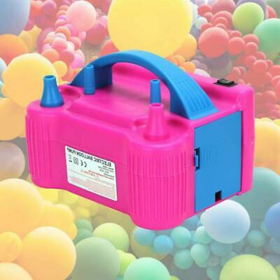 £19.89 • Buy Electric Balloon Pump High Power Balloon Inflator Air Blower 600W 2 Nozzle UK