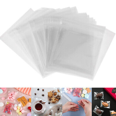 £4.74 • Buy UPTO400 Clear Plastic Candy Packaging Bags Self Adhesive Cookie Biscuit Gift Bag