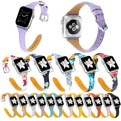 AU19.99 • Buy 38/42/40/44mm Women Slim Leather Flowers Band Strap For Apple Watch 6 5 4 3 2 SE