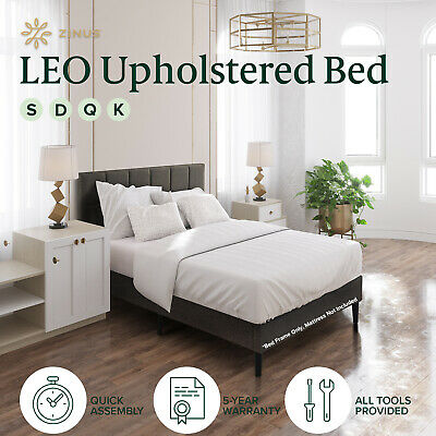 AU189 • Buy Bed Frame Queen Double King Single Full Size Mattress Base Platform Fabric LEO
