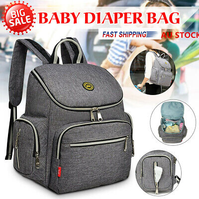 £12.48 • Buy  Baby Diaper Nappy Mummy Changing Backpack Multi-Function Hospital Bag Rucksack