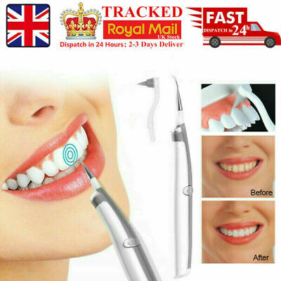 £5.02 • Buy Electric Sonic Scaler Dental Tooth Stain Polisher Whiten Plaque Eraser Remover