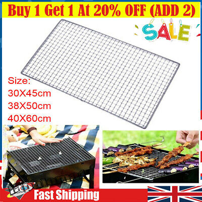 £6.99 • Buy Stainless Steel BBQ Grill Grate Grid Wire Mesh Rack Cook Replacement Net Garden