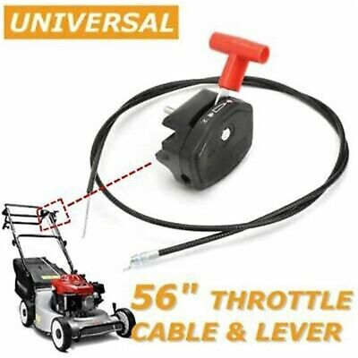 £8.45 • Buy 56'' Throttle Cable Switch Lever Control Handle For Lawnmower Lawn Mower UK~
