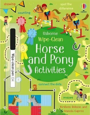 £4.47 • Buy Wipe-Clean Horse And Pony Activities By Kirsteen Robson