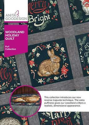 $13.99 • Buy Woodland Holiday Quilt Anita Goodesign Embroidery Machine Design CD