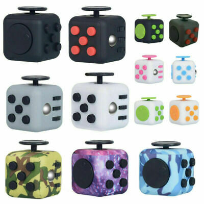 AU6.99 • Buy Fidget Cube 3D Focus Stress Reliever Toys Anti-anxiety Colourful Hand Toys Kids