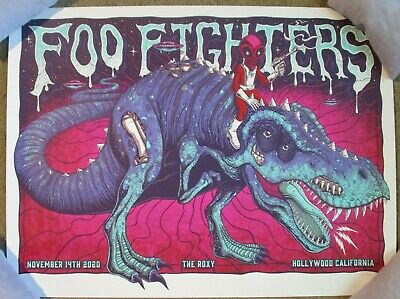 $79.99 • Buy FOO FIGHTERS Concert Gig Poster Print HOLLYWOOD ROXY 11-14-20 2020 Jim Mazza