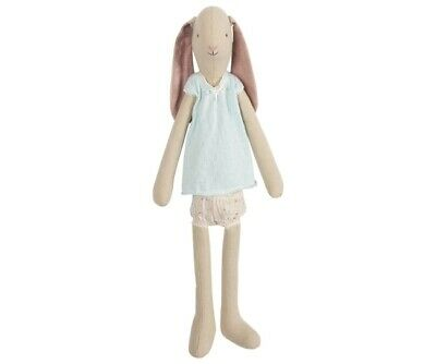 $48.99 • Buy NEW Maileg Light  Medium Girl Bunny With Floral Shorts And Blue Knit Top Easter