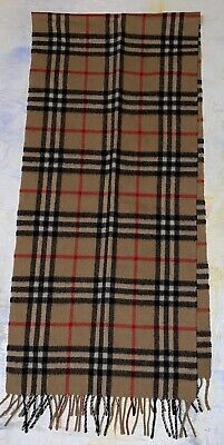 £42.51 • Buy  BURBERRY Cashmere Scarf Classic 100% Authentic
