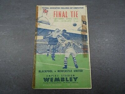 £14 • Buy 1951 FA Cup Final Programme - Blackpool V Newcastle United - 28th April 1951