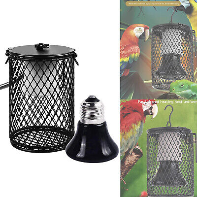 £18.33 • Buy 75w Reptile Ceramic Heating Light Bulb Lamp Heater Holder With Safety Cage UK