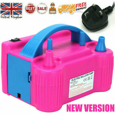 £17.98 • Buy Portable Dual Nozzle Electric Air Pump Party Balloon Toy Inflator Blower Gift UK