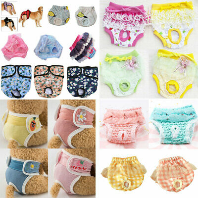 £2.85 • Buy Female Pet Dog Puppy Physiological Pants Sanitary Nappy Diaper Shorts Underwear.
