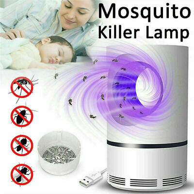 £6.49 • Buy Electric UV LED Light Mosquito Killer Insect Fly-Bug Zapper Trap Catcher Lamp UK