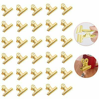 £7.39 • Buy New Bulldog Clips Gold Paper Clips Mini Metal Binder Clips Small 22mm Pack Of 30