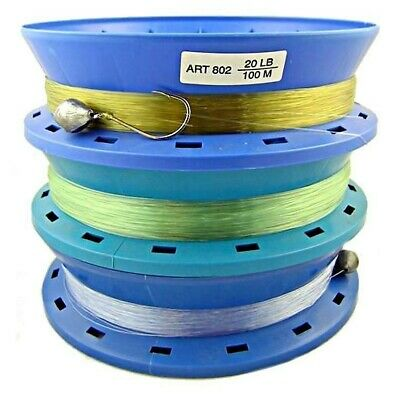 AU18.95 • Buy 3 X 8 Inch Hand Casters Pre Rigged With 100m Of 20lb Mono Fishing Line