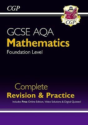 £4.99 • Buy GCSE AQA Mathematics Foundation Level Complete Revision And Practice - CGP