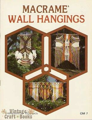 $17.95 • Buy Macrame Wall Hangings Vintage Pattern Book Larger Projects NEW 1977