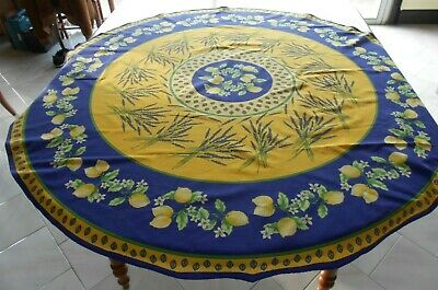 £30.27 • Buy French Riviera Cotton TABLECLOTH W/ LEMONS